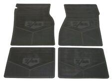 """67 68 69  Camaro Rubber Floor Mats """" Z/28"""" Logo  Black"""