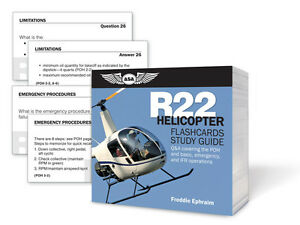R22 Helicopter Flashcards Study Guide ISBN 978-1-61954-033-0 ASA-CARDS-R22