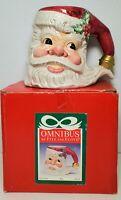 NOS Santa Face Coffee Tea Mug 1996 Fitz And Floyd Omnibus Collection Christmas!