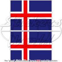 SCHOTTLAND Wehende Fahne SCHOTTISCHE Flagge 75mm Auto Aufkleber x2 Stickers