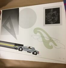 """""""Car with French Curve"""" by Raymond Loewy Ltd Ed.Lithograph, 214/300 signed"""