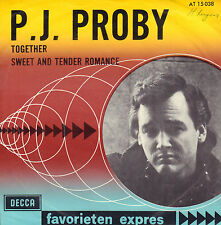 """P.J. PROBY - Together (1964 FAVORIETEN EXPRES SINGLE 7"""" 45 RARE DUTCH PS)"""
