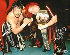 Yoshihiro Tajiri & Mikey Whipwreck Signed 11x14 Photo BAS COA WWE ECW Autograph
