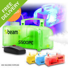 Compact Smoke Fog Mist Machine Remote Control & Fluid LED DJ Disco Party Light
