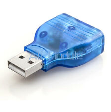 USB Male To Dual PS2 PS/2 Female Adapter Mouse Keyboard Splitter Converter