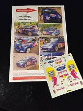 DECALS 1/24 FORD FOCUS BAUMSCHLAGER RALLYE ALLEMAGNE 2001 RALLY WRC HASEGAWA