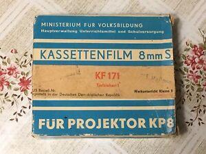 """DDR Kassettenfilm 8 mm S für Projektor KP 8 """"KF 171: TIEFZIEHEN I"""" (Selten!!)"""