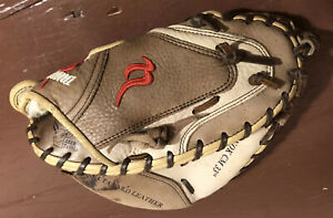 "Nokona 33 Inch Elite Baseball Catchers Mitt Glove 33"" Damage See Description"