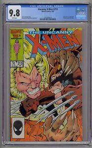 UNCANNY X-MEN #213 CGC 9.8 WOLVERINE VS. SABRETOOTH