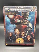 Iron Man 2 [STEELBOOK] 4K UHD + Blu-ray/Digital Copy BRAND NEW FACTORY SEALED