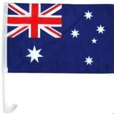 "4 Aussie Australia Car Flag Australian 46x30cm 18""x12"" 16"" Plastic Clip On Stick"