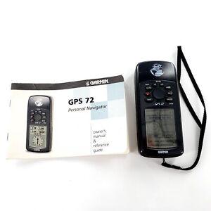 Garmin GPS 72 Handheld Navigator Bundle w/ Strap & Owners Manual Tested & Works