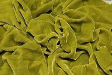 """Pistachio Green Plush Silk Velvet Upholstery Apparel Fabric - BTY - 44"""" / 45"""""""