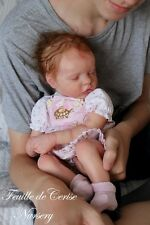 reborn baby girl doll Twin B Bonnie Brown kit newborn with belly plate
