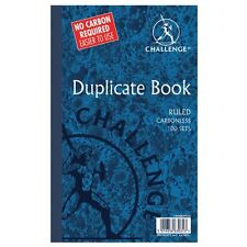 CHALLENGE CARBONLESS DUPLICATE BOOK 210x130mm RULED FEINT