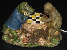 Tortoise or Turtle & Crocodile Alligator Snails Chess Lamp - Stump Lights Up!