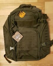 Highland Tactical Roger OD Green Backpack with Laser Cut Molle Webbing