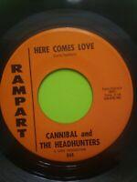 "Cannibal and The Headhunters : Nau Ninny Nau / Here Comes Love 7"" 45 RPM Rampart"