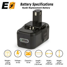 18V ONE+ High Capacity Lithium-ion Battery for RYOBI 18 VOLT ONE+ Tool 4.0AH