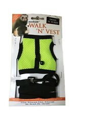 Walk n Vest & Leash for ferrets, rabbits, Guinea Pigs, & Cats with finder bell