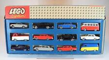 Lego System 1/87 Uralt Nr.698 Auto Set 12 teilig Top Zustand in O-Box 60er Jh