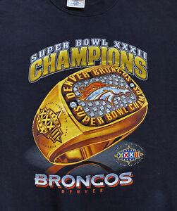 Vintage Denver Broncos Sweatshirt Boys Size XL 18/20 1997 Super Bowl 32