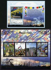 Bhutan 2016 Gebetsfahnen Religion Prayer Flags Kulturerbe Block 569-570 MNH