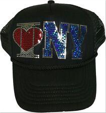 Women I Love New York Cap Sequins Baseball Love Fashion Jets Yankees Gift Hat