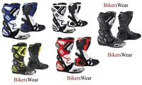 Forma Ice Pro Motorcycle/Motorbike Racing Boots-Black White Blue Red Fluo/yellow