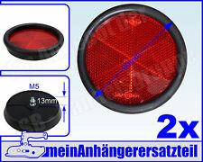 2x Rückstrahler Heckstrahler rund in Kunststofffassung 90mm rot 2 Stück