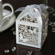10/50/100pcs Wedding Party Favor Butterfly Paper Candy Gift Boxes With Ribbon QA