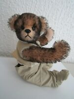 "HAND MADE ARTIST TEDDY CATHY WILDER CUBS 9"" FRED FLY FISHERMAN JOINTED MOHAIR"
