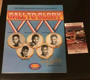 Evander Holyfield Pernell Whitaker Pro Debut  Signed Boxing Program JSA Auto
