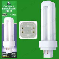 10x 10W G24q-1, 4 pin, à Basse Consommation Cfl Bld Double Tourner Ampoule Lampe Blanc Cool