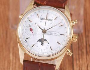 Eberhard Navy Master 18K Solid Gold Moonphase Watch
