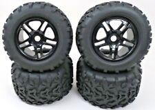 On / Off - Road 17 MM Split 6 Spoke Back Rims and Tires Traxxas T-Maxx Revo HPI
