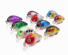 10pcs/lot Fishing Lures Kinds of Minnow Fish Bass Tackle Hooks Baits Crankbait
