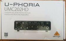 Behringer U-phoria Umc202hd 24 Bit192 kHz USB Audio Interface