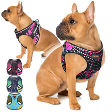 Reflective Dog Harness Front Clip Soft Mesh Cat Walk Vest for Small Medium Dogs