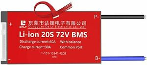 LiFePO4 BMS PCB 20S 60V 60A Daly Balanced Waterproof Battery Management System