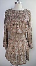 NEW ISABEL MARANT $1,265 print silk chiffon Dahut dress with belt size 38
