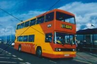 BUS PHOTO,BLACKPOOL METRO PHOTOGRAPH PICTURE,TRENT LEYLAND OLYMPIAN AT FLEETWOOD