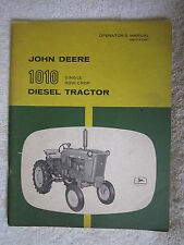 VINTAGE ORIGINAL JOHN DEERE 1010 SINGLE ROW-CROP DIESEL TRACTOR OPERATORS MANUAL
