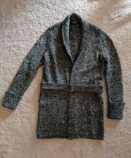 express gray sweatercoat open front with belt XS