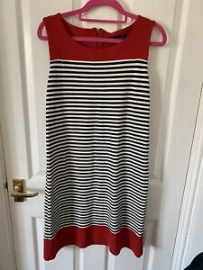 Next Blue White And Red Striped Dress Size 12