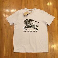 Burberry White & Black T-Shirt - Sz Small