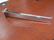 "Chrome Rectangular Heavy Duty Slatwall Hook Rail 12"" Inches Long - Lot Of 10"