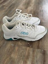 Fila Womens Size 7 White Leather Athletic Shoes Very Nice Condition!