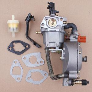 Dual Fuel Carburetor LPG NG Conversion for GX160 GX200 168F 170F Engine Carb