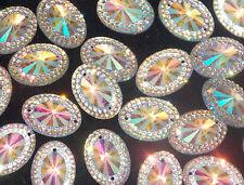15mm CLEAR AB  Sew On Stitch JEWEL GEM CRYSTAL RHINESTONE Bead Crystal DANCE